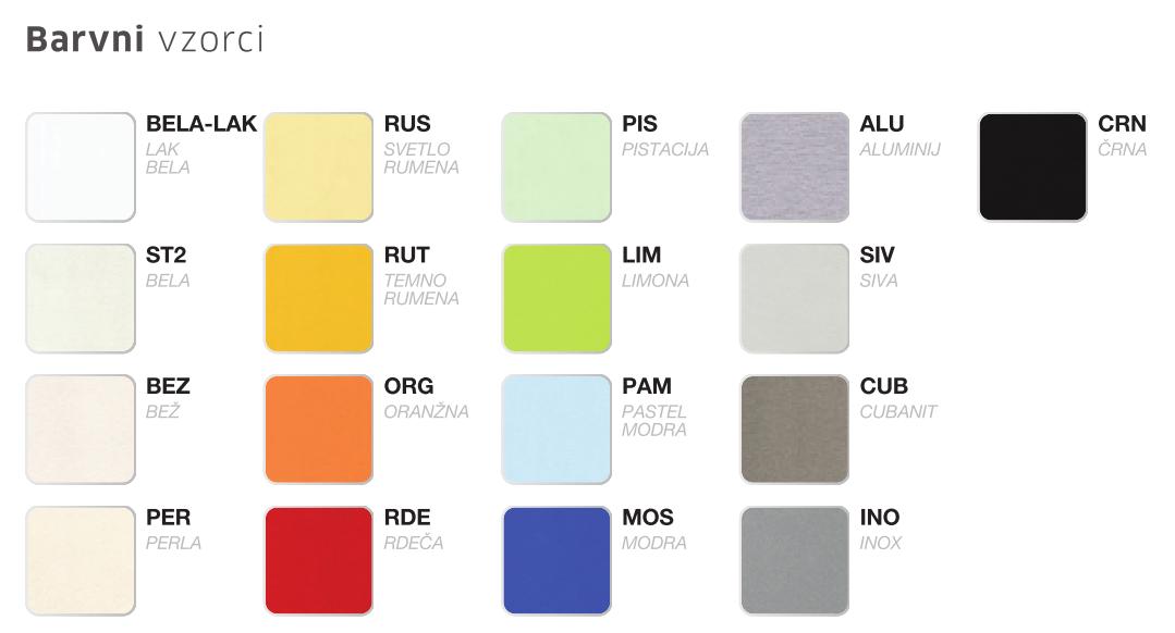 barve za vrata vgradnih omar
